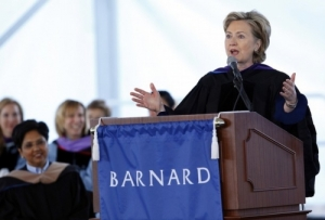 Clinton at Barnard