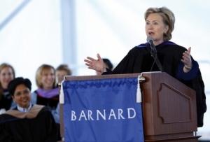 Clinton at Barnard