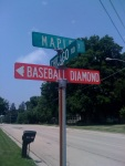 baseball in a smalltown