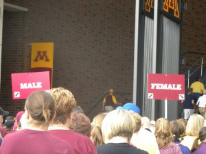 First Gopher FB Game in TCF 2009