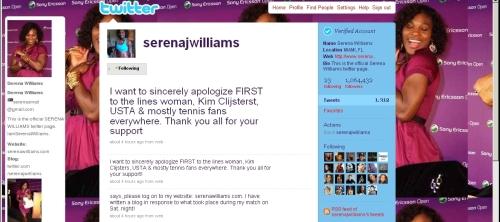 serena apology